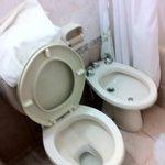 Broken utilities in the bathroom