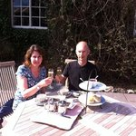 Devon Cream Tea and bubbly.