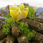 Grape leaves tray