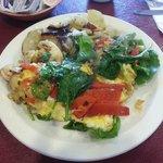 roasted veg omelet...always fresh!