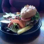 Santa Fe Burger with Salad