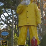 The Wonderful Lobster Fisherman, Brown's Wharf Inn & Restaurant, Boothbay Harbor, ME