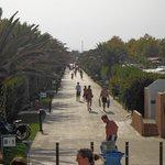 main walkway to beach
