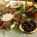selection of mezze dishes