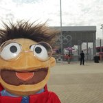 A Muppet athelete outside the stadium ;)