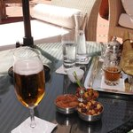 rear terrace refreshments