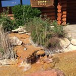 Entrance to the lobby with a great water feature.