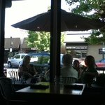 VERY nice outside eating area. It really dresses up 10th Street. I hope it starts a trend.