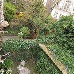 Garden below our room