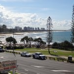 View from apartment deck out to Maroochydore beach