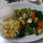 貝柱と野菜炒め