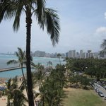 View of the park and Waikiki