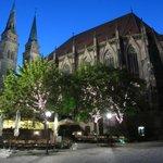 St Sebald's church just opposite Zum Spiessgesellen Restaurant