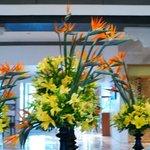 Lobby floral display