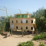 Katzenhaus in der Nähe des Meia Praia