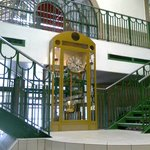 The stairs, and clock, central market