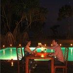 Romantic Dining near the Pool