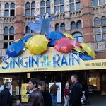 singing in the rain on a lovely day.