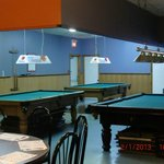 pool tables area