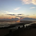 spring sunset over Whitstable Bay