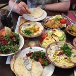 hot and cold mezze selection