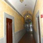 hallway between front door and interior courtyard