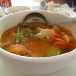 Pork Sinigang which was already halfway consumed when I took this picture.