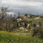 San Gimignano view from Agriturismo Santa Croce