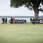 Wedding ceremony location under big oak tree!
