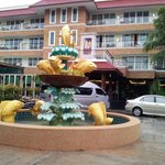 Fountain on hotel ground