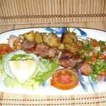 Espetada Grelhada de Carnes Mistas, Grilled Mixed Meat Kebab
