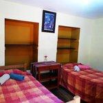 the hostel room