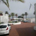 sea view from front door of hotel
