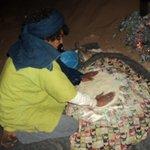 Moktar nous a préparé le pain de sable