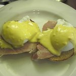 Eggs Benedict for breakfast.