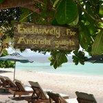 Local and private beach
