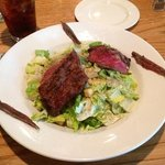 Cesar salad with flat iron steak