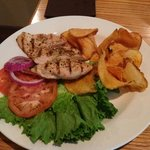 Grilled chicken with home made chips