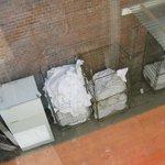 Wäschedepot im Freien