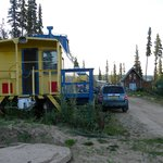 the caboose is private - even the door faces away from the rest of the train