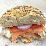 Smoked Salmon everything bagel !