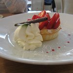Whitehorses restaurant, Strawberries on a bed of mascarpone in a shortcrust pastry shell