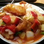 Fish sweet and sour with rice