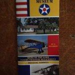 Front of Flight Museum's brochure