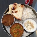 lunch special: goat thali