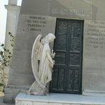 mausoleum with angel