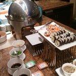 Sushi en el desayuno