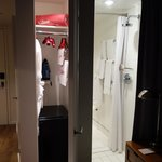 Wardrobe and shower