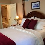 Enjoy the luxurious comphy sheets in the Virginia Waterside Room