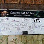 Mapa de los Cenotes